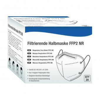 20 Hochqualitative filtrierende Halbmaske Klasse FFP2