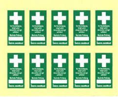 Prüfsiegel für Erste-Hilfe-Einrichtung